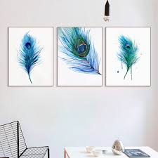 online shop beautiful peacock feather a4 poster nordic living