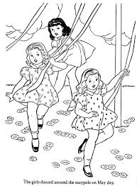 may day coloring pages holidays and observances