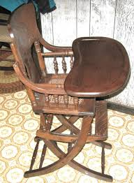 Childs Antique Chair Antique High Chair Ebay