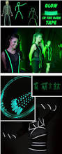 1mx25mm luminous tape self adhesive glowing in the dark safety