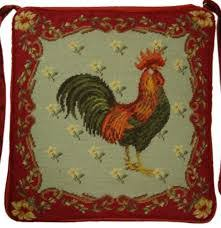 French Country Kitchen Chair Pads Red Needlepoint French Country Chair Pad Google Search Bar