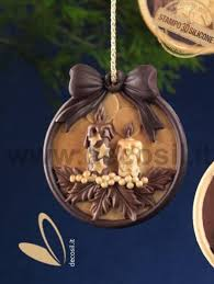 christmas candles ornament silicone mould pendant christmas