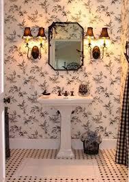 Kohler Stately Pedestal Sink Traditional Full Bathroom With Mural U0026 Tile Floors In Santa