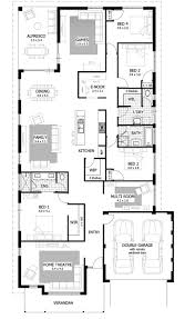 four bedroom house floor plan including best plans ideas 2017