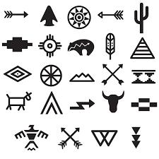tribal symbols set 668 boho tribal tattoos