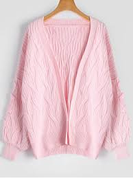 pink sweaters cable knit lace up oversized cardigan pink sweaters one size zaful