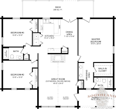 Customize Floor Plans Southlandloghomes Wateree I Log Home 1801 Sq Ft 40x50 Floor