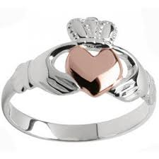claddagh ring galway silver solid gold heart two tone claddagh ring