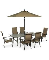 Patio Table And 6 Chairs Bowmore 7 Pc Outdoor Set Rectangular Table 6 Chairs Only At