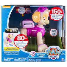 paw patrol zoomer skye interactive pup toys