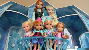 playing in elsa u0027s ice castle elsa and anna toddlers u0026 their