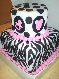 pink and brown zebra baby shower theme zebra print cakes for baby