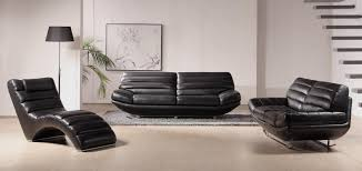 Contemporary Black Leather Sofa Modern Style Black Sofa And Sweet Deluxe Black Leather Sofa Set