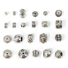 Silver Findings For Jewelry Making - 2017 antique silver tibetan charms big hole beads jewelry making