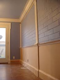 Molding For Wainscoting Diy Wainscoting On Brick Wall Update Take A Look The Joy Of