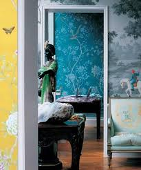 hand painted wallpaper by de gournay aphrochic modern soulful