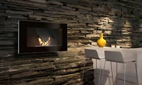 bioethanol fireplace contemporary closed hearth wall mounted vauni