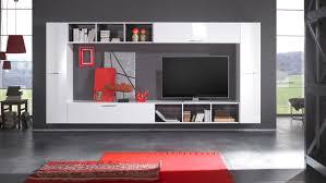 Wohnzimmerschrank H Fner Wohnwand Modern Eiche Weiß Harzite Com