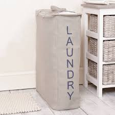 grey laundry hamper grey drawstring fabric laundry bag with handles by dibor