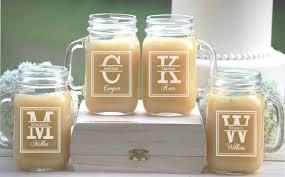 Mason Jar Ideas For Weddings Set Of 4 Groomsmen Gift Personalized Mason Jar Mugs Wedding