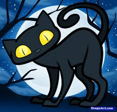 Halloween Drawings Easy How To Draw A Halloween Cat For Kids How To Draw Pinterest
