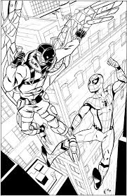 spider man homecoming inks by crimeroyale on deviantart