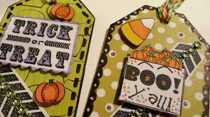 halloween gift tags diy halloween gift tags using cereal boxes paper crafting youtube