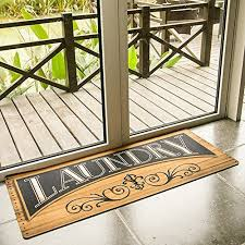 2 X 4 Kitchen Rug Ustide Wood Print Floor Mat For Laundry Room Nonslip Washhouse Mat