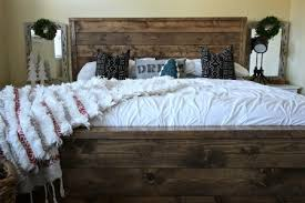 Modern Rustic Bedrooms - rustic modern bed white picket farmhouse