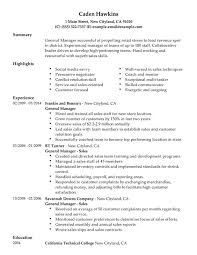 Manager Resume Sample by Download General Manager Resume Haadyaooverbayresort Com