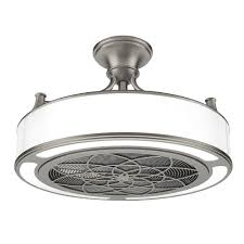 bladeless ceiling fan home depot anderson 22 in led indoor outdoor brushed nickel ceiling fan with