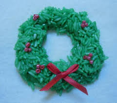 craft idea wreath ornament made from rice