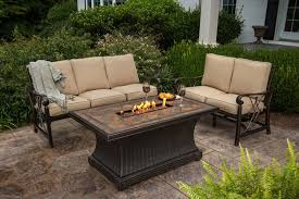 beautiful patio furniture with gas fire pit home and interior home