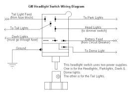 wiring diagram for headlight switch