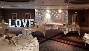 wedding backdrop letters mercure grange park sophisticated shindigs