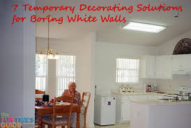 Home Decor Solutions White Wall Decor 7 Temporary Decorating Solutions For Boring