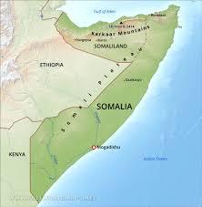 Map Of Somalia Somalia Physical Map
