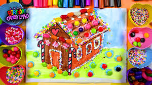 learn to color for kids and color ginger bread house coloring