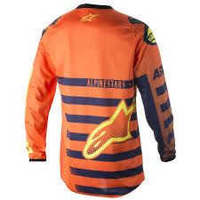 alpinestars motocross jersey 2018 alpinestars racer braap jersey orange blue white sixstar racing