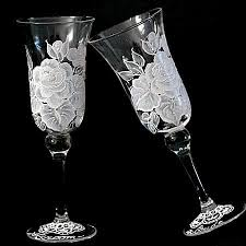wine glasses for wedding high end painted wine glasses for wedding favors a wincy