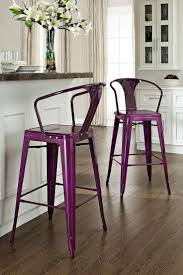 18 brilliant kitchen bar stools that add a serious pop of color view in gallery purple amelia metal cafe barstool from haute look