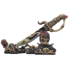 amazon com caribbean skeleton pirates knife display stand statue