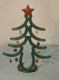 horseshoe ornaments painted horseshoe christmas tree with miniature ornaments