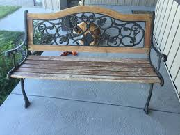 how to restore an old park bench with spray stain a vision to