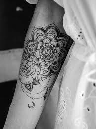mandala tattoo blackwork moon flower private pinterest