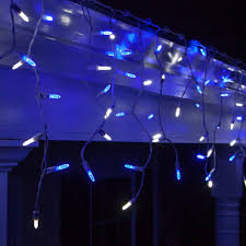 icicle lights led outdoor blue