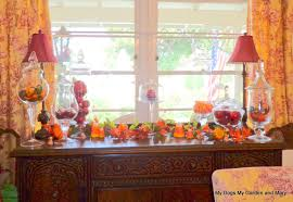 Fall Dining Room Table Decorating Ideas Mydogsmygardenandmary Fall Decorations And Garden