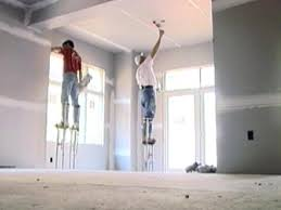 hanging drywall on ceiling or walls first about ceiling tile