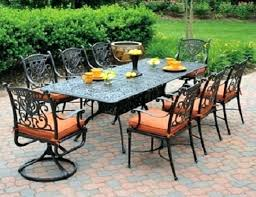 cast aluminum dining table grand tuscany 8 seat luxury cast aluminum dining set by hanamint