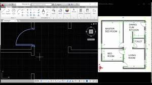 creating a floor plan in autocad youtube